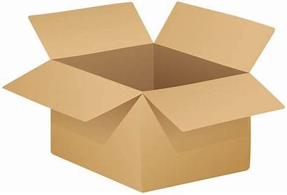 Cardboard Box Clipart Clip Open Transparent Boxes