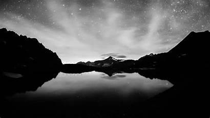 Monochrome Landscape Water Night Lake Reflection Desktop