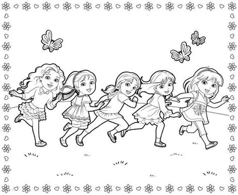 dora  friends coloring pages    print