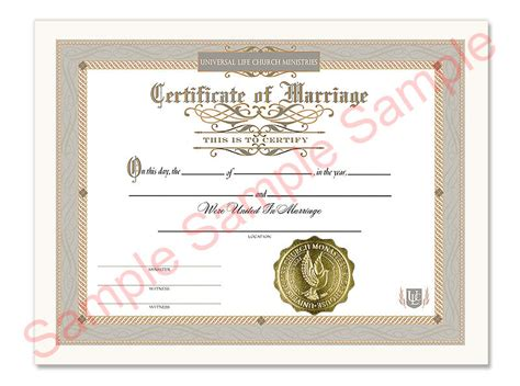 certificate of wiccan ordination template free certificate of marriage universal life church