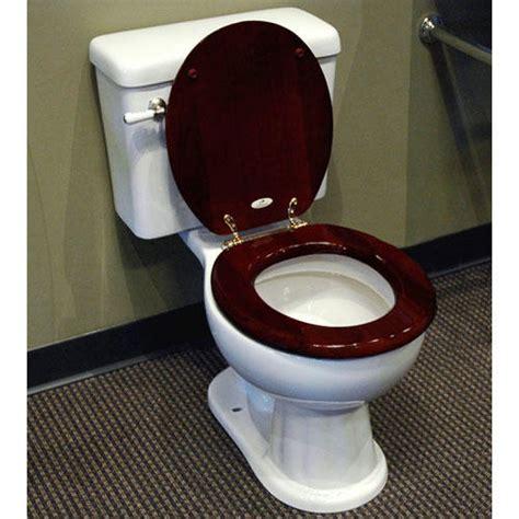 luxury toilet seat mahogany bathroom