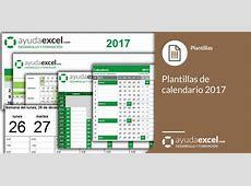 Plantillas calendario en Excel 2017 Ayuda Excel