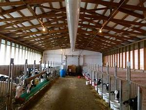 positive pressure air tube ventilation for calf housing With barn ventilation systems