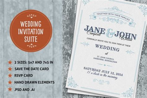 Wedding Invite Suite ~ Wedding Templates ~ Creative Market
