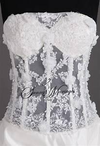Corset robe de mariee corset pinterest for Robe de mariée dentelle dos
