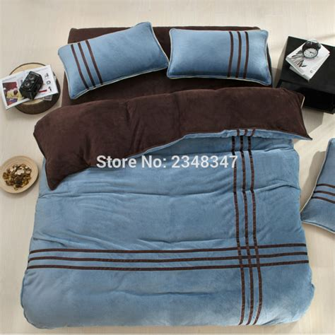 flannel duvet cover king winter warm flannel fleece soft thickened 4pcs