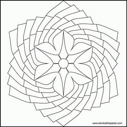 Mandala Coloring Flower Pages Mandalas Easy Simple