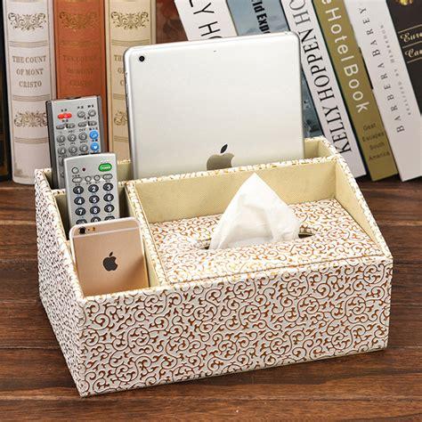 decorative tissue box cover leather modern blackbrown