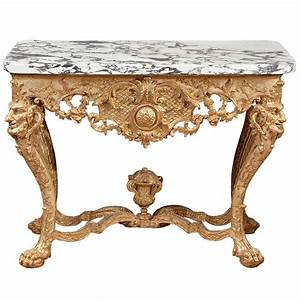 Northern European Baroque Giltwood Console Table at 1stdibs