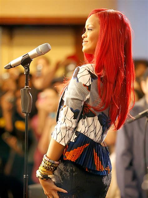 Rihanna Red Hair Extensions Thrifty Cent