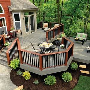 multi level decks deck traditional with outdoors