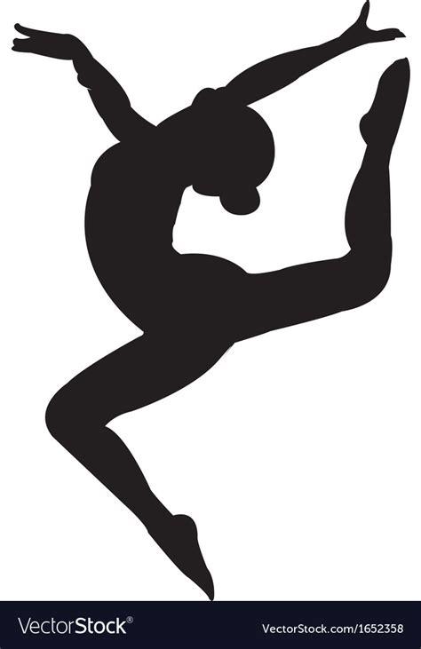 gymnastics clipart gymnastics silhouette royalty free vector image