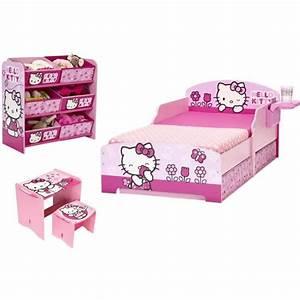 Chambre Hello Kitty : hello kitty chambre enfant compl te tout en un achat vente chambre compl te cdiscount ~ Voncanada.com Idées de Décoration