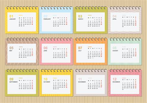 calendario de desktop gratis   ilustracao de modelo