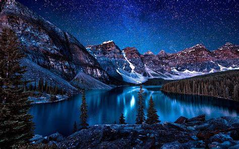 Moraine Lake Valley Of The Ten Peaks ⛰️ Hd Wallpaper