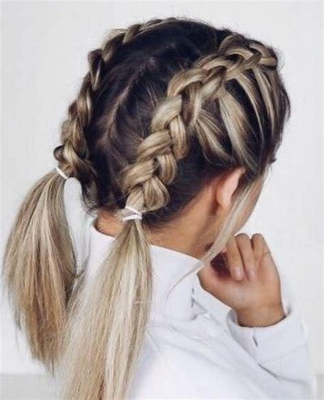 double dutch french braids blonde balayage highlights