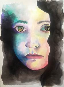 Sad Eyes Watercolor Painting by LordColinOneal on DeviantArt