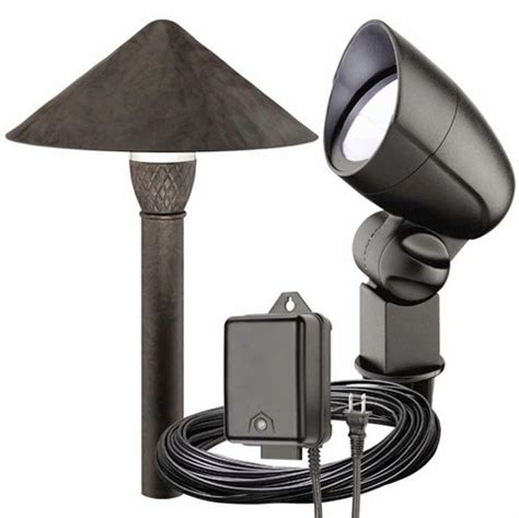 malibu 6 pc pro style led landscape flood light kit