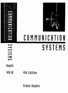 Communication Systems 4 Th Edition Simon Haykin With
