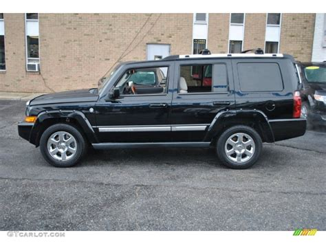 2007 black clearcoat jeep commander overland 4x4 74490150 photo 3 gtcarlot car color