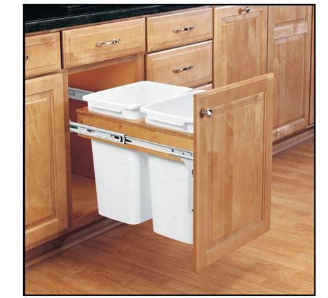 Cabinet Garbage Cans by Kitchen Garbage Wastebasket Cabinet Pull Out Waste Basket
