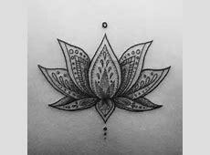 Tattoo Fleur De Lotus Bas Du Dos Tattooart Hd