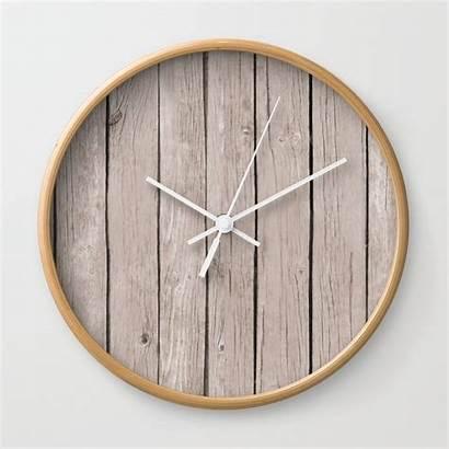 Rustic Wall Wood Clock Clocks Frame Society6