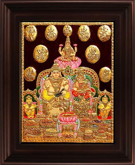 Kubera Lakshmi Tanjore Painting by Myangadi Tanjore