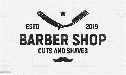 Barber Trendy Razor Vector Template Label Poster
