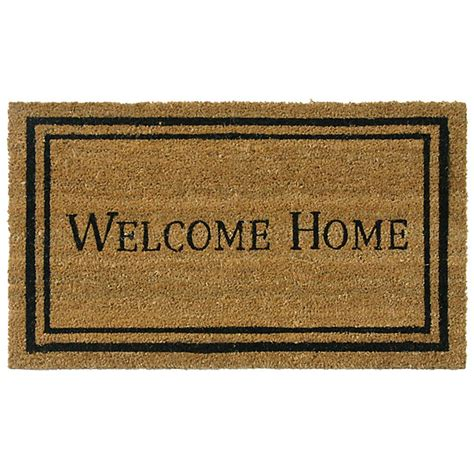 Welcome To Our Home Doormat by Rubber Cal Contemporary Welcome Home 24 In X 57 In Door