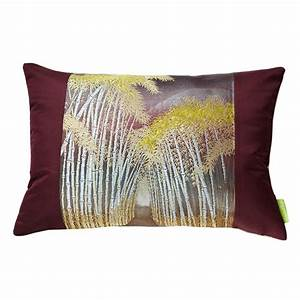 bamboo pillow sham kimono silk cushion cover velvet back With bamboo pillow near me