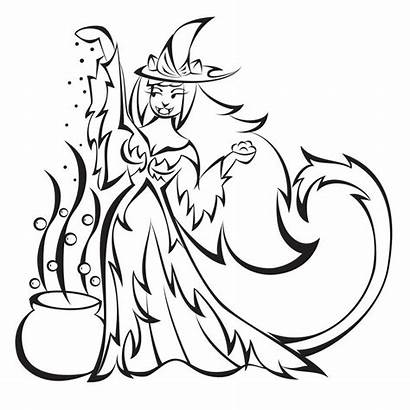 Witch Coloring Wicked Halloween Witches Hexe Ausdrucken