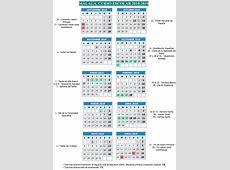 Fechas y festivos del calendario escolar para el curso