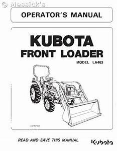 Kubota  La463 Front End Loader Operators Manual  Part