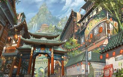 China Wallpapers Town Ancient Chinese Concept Japanese