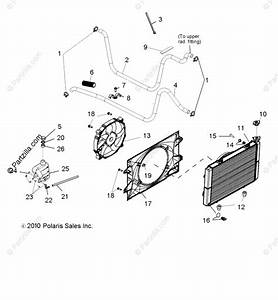 Polaris Side By Side 2011 Oem Parts Diagram For Engine  Cooling System