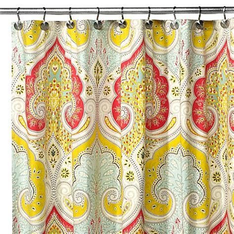 echo design jaipur fabric shower curtain