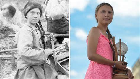 greta thunberg lookalike  yo photo sparks time travel
