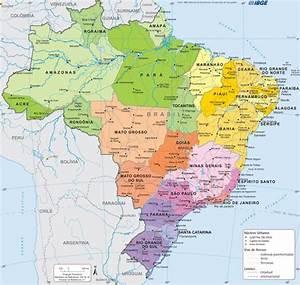 Mapas do Brasil Estados e Capitais, Regiões e Mapa Político