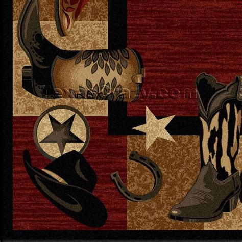 Western Rug by Buy Red Western Boots 5 X 8 Area Rug Texas Rugs Store