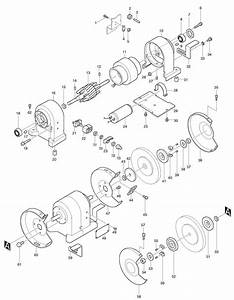 Spares For Makita 9308 Bench Grinder Spare 9308 From Power Tool Centre