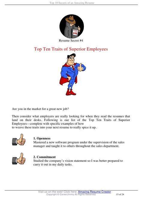 Amazing Resume Creator by Top 10 Secrets Of An Amazing Resume