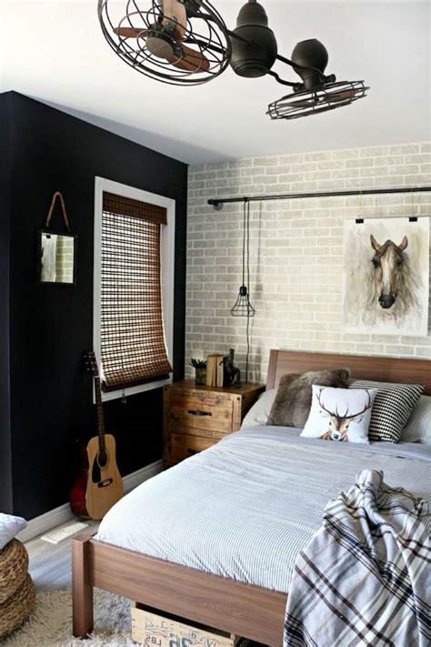 chambre à coucher garçon best chambre ado mur noir contemporary ridgewayng com