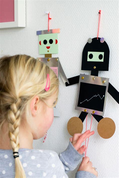 robot puppet fun crafts kids