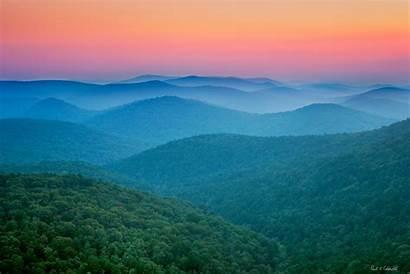 Ouachita Mountains Pinnacle Sunset Flatside Arkansas Mountain