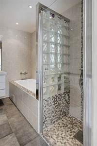 Paroi Baignoire D Angle : petite salle de bains avec baignoire douche 27 id es sympas ~ Premium-room.com Idées de Décoration