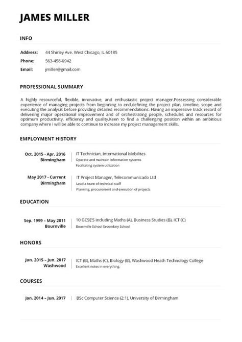 Make My Resume by Resume Maker Create A Resume In 5 Minutes