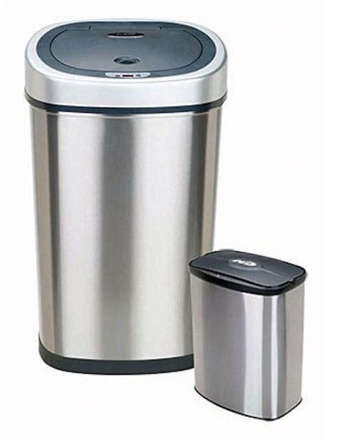 kitchen trash can motion sensor trash can 2 set garbage bin stainless steel