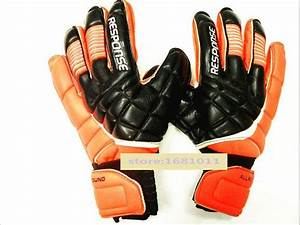 Sports Football gloves soccer goalkeeper gloves padded ...