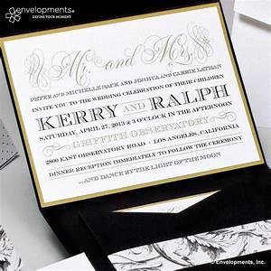 elegant gold wedding invitations classic black and gold With wedding invitations 5